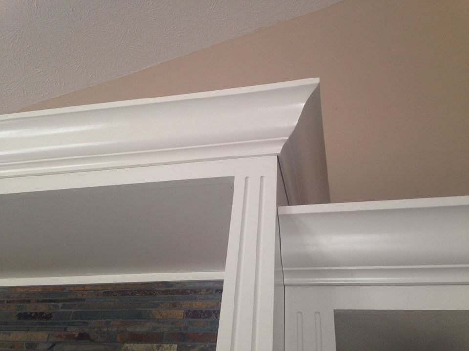 Stack moulding kitchen cabinets bathroom moulding for Oak crown molding for kitchen cabinets